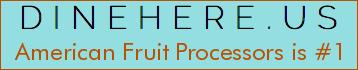 American Fruit Processors